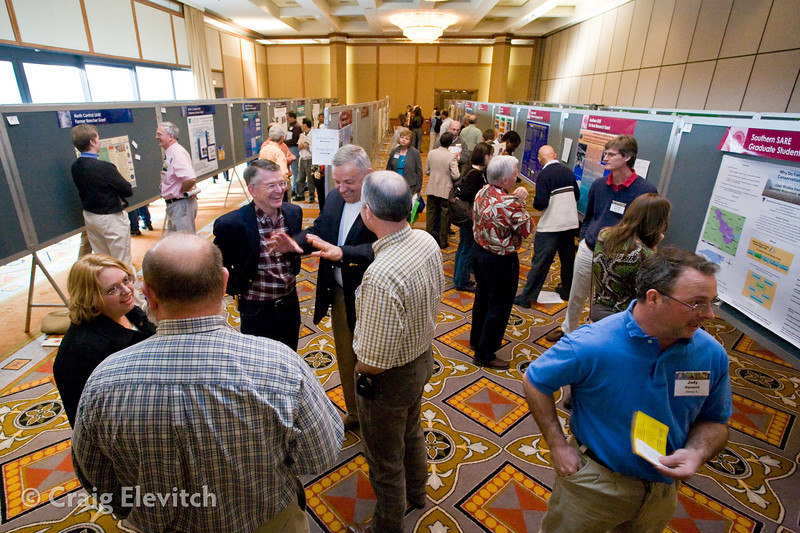 Three poster sessions drew crowds and stimulated discussion.