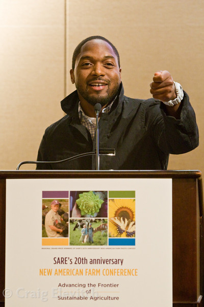 """Bryant Terry, ecochef, author, and food justice activist. """"When I say food, you say grub!"""""""