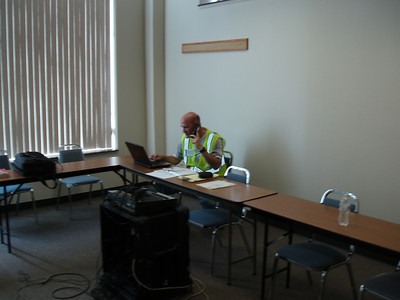 29  SAVE Alternate Statewide Coordinator Ben Ross manning operations desk