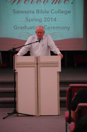 Sarasota Bible College Graduation Ceremony, January 14, 2014