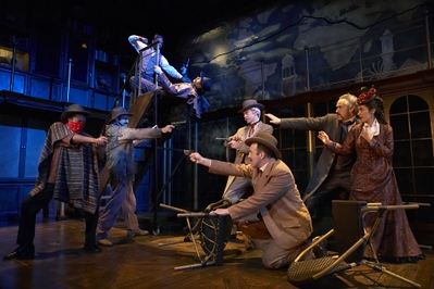 "<h3>CHARGE SCENIC ARTIST</h3><span style=""color:#009FC3;""> AROUND THE WORLD IN 80 DAYS <br>Lookingglass Theatre, scenic design by Jacqueline and Richard Penrod</span>"