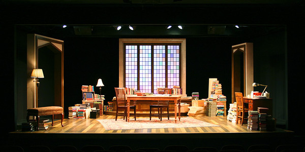 "<h3>CHARGE SCENIC ARTIST</h3><span style=""color:#009FC3;""> THE BUSY WORLD IS HUSHED<br>Next Theatre, scenic design by Jack Magaw</span>"