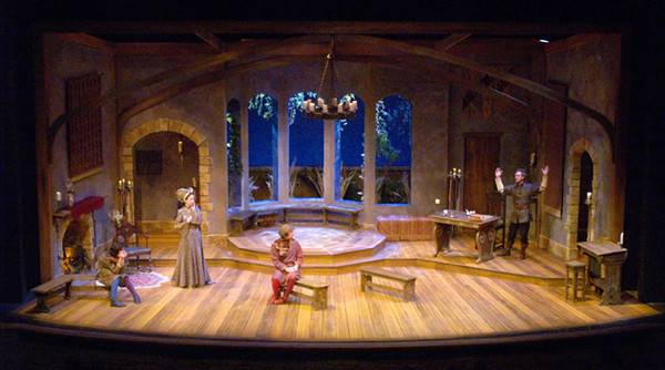 "<h3>CHARGE SCENIC ARTIST</h3><span style=""color:#009FC3;""> THE LADY'S NOT FOR BURNING <br>Peninsula Players, scenic design by Jack Magaw</span>"