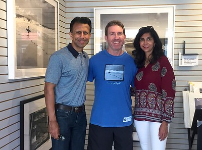 Former governor of Louisiana  Bobby Jindal and his wife Supriya in the gallery. 2017