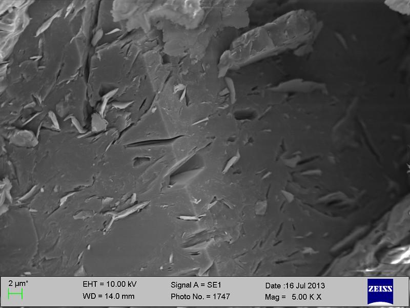 Cathode from810.  brown deposit