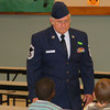 Suwannee Elementary School third graders held an assembly in the cafeteria to honor military veterans.