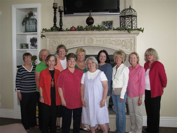 Mini reunion of SFHS Class of 1969<br /> Front row, left to right:   Debbie Lasson, NaDene Cope Simmons, Sue Pearson Thompson<br /> Second row:  Paula Losser Stewart, Crystal Julian Grover, Elaine Roach Peterson, Karen Fugate Nell, Kathleen Jones, Deanne Roach Jex, Deanne Hamilton Wallace, Laraine Wood Johnson