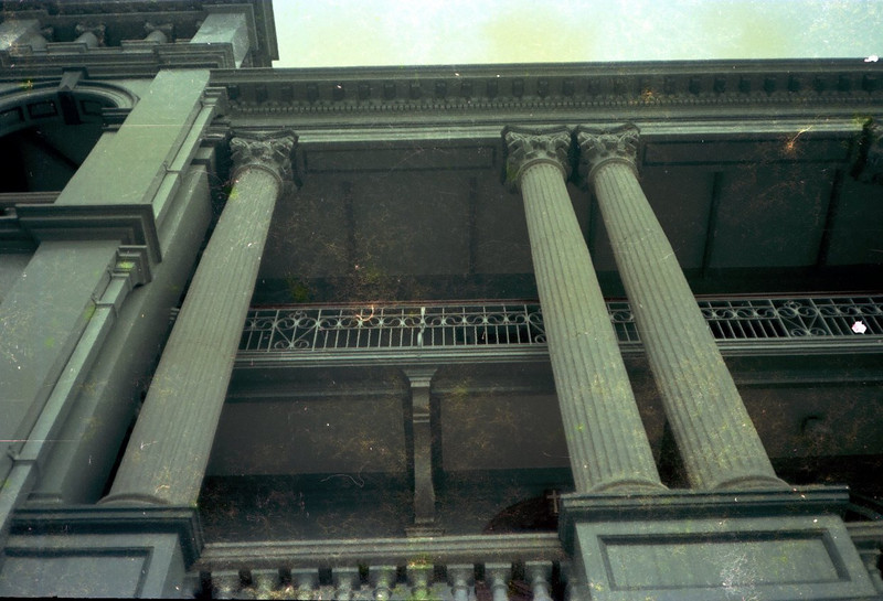 Looking up the Roman Columns of the Chapel