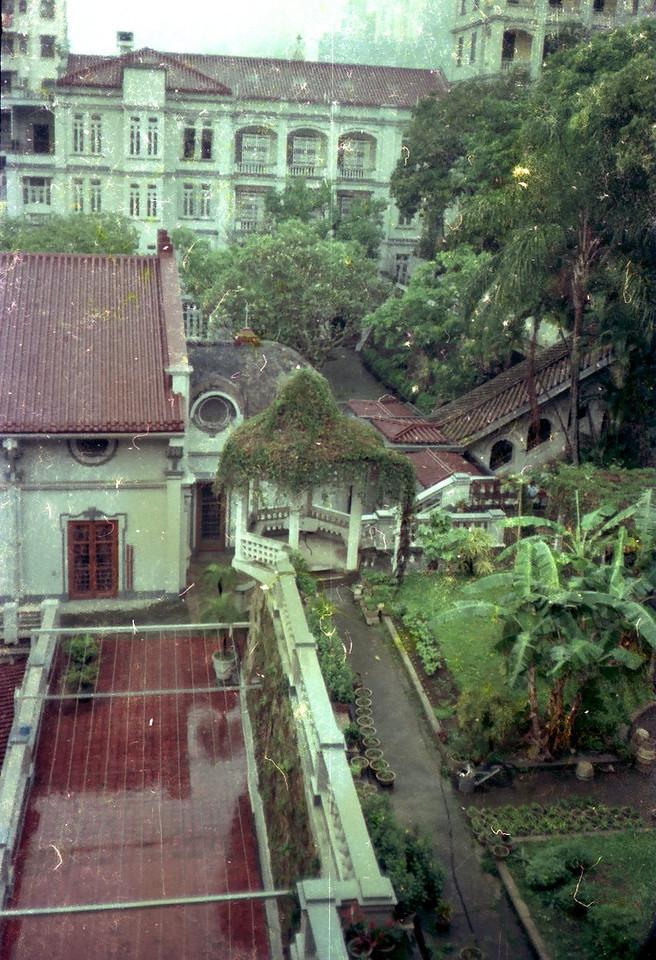 Garden and chapel.