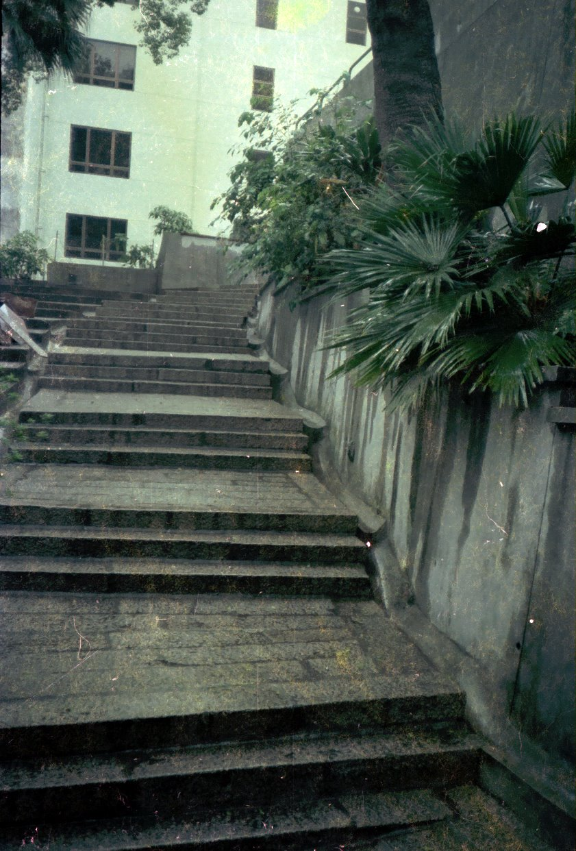 Stairs along the real 26 Caine Road entrance