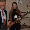 Diane Rupp, executive editor of Sports Afield Magazine, holds the iconic No. 2, Jack O'Connor's  favorite rifle.