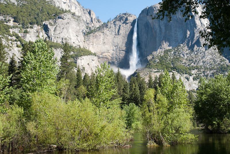 Yosemite Falls with Merced River