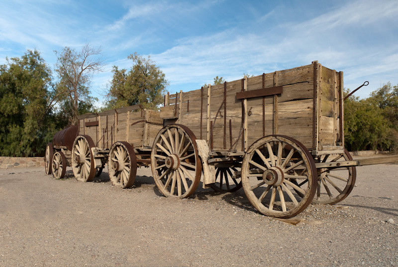 Borax Wagons at Furnace Creek DV