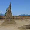 Sundial Sand Dial at the sand sculpture contest in Harrison Hot Springs, BC Canada