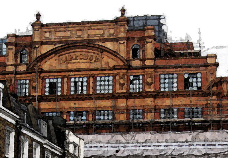 Harrod's London, but not the store.<br /> Watercolor