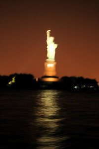 statue of liberty from the kid koala boat