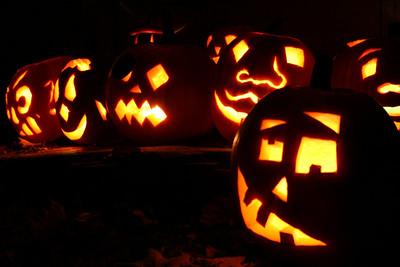 our jack-o-lanterns.  brattleboro, vt