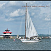 SKIPJACK DEE of ST. MARY'S  passing the Choptank River Lighthouse, Sept 21st, 2013, Cambridge, MD