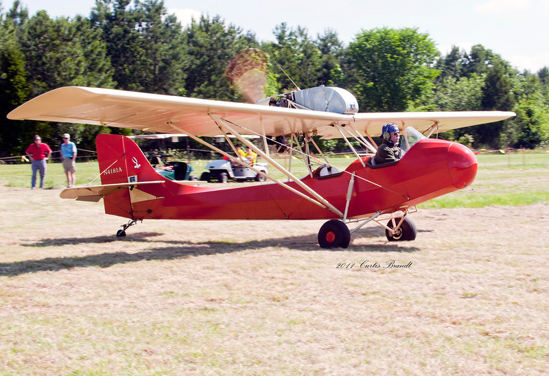 Horne Point Fly-in<br /> Cambridge, MD<br /> model 1   a/w  1973<br /> Dover, DE  Kent county<br /> <br /> Curtiss-Wright Junior CW-1<br /> 66 Woody Pusher<br /> <br /> 2011 Antique Fly-in Horne Point, Cambridge, Md