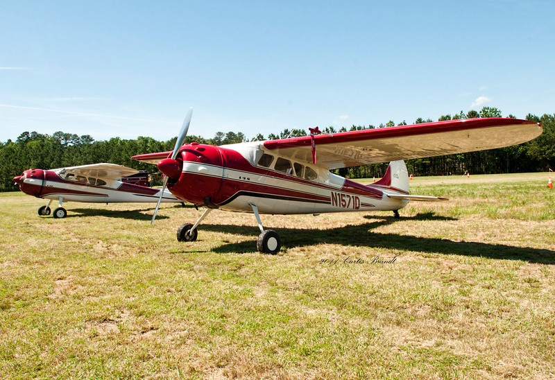 2011 Antique Fly-in Horne Point, Cambridge, Md<br /> Cessna 195A  a/w 1955<br /> Dameron, MD  St Marys county