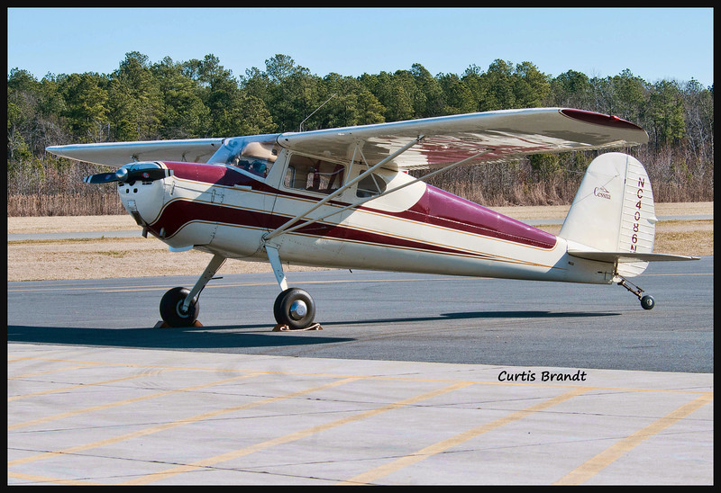 Cessna 140 with rear side window<br /> Cambridge, Maryland<br /> January 29th, 2012