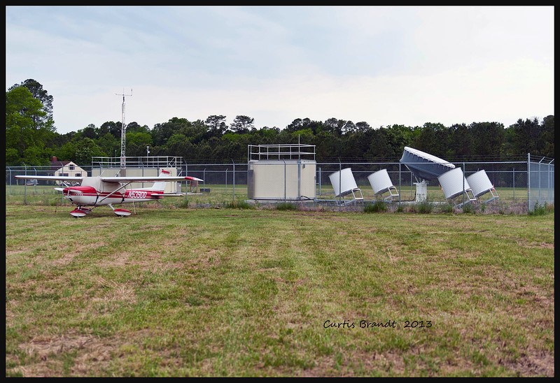 1972 CESSNA  150L<br /> <br /> Yaphank, NY  N5390Q<br /> <br /> HORNE POINT RUNWAY .. small drums in enclosure measuring high altitude wind shear .. big drug sends informatrion to satelites ..... that drum rotates and sounds like something out of a sci fi movie .. thus why it is here and not closer to horne point research lab ......... noisy .........