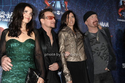 Ali Hewson, Bono, Morliegh, Edge photo by Rob Rich © 2011 robwayne1@aol.com 516-676-3939