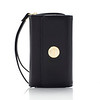 Knomo Leather Purse - iPhone 4S - Black - Front