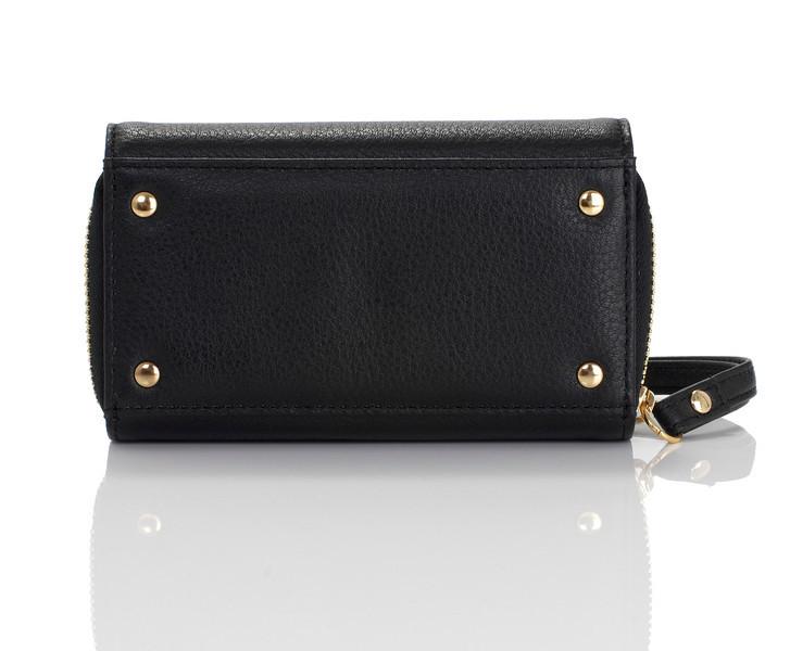 Knomo Leather Purse - iPhone 4S - Black -04