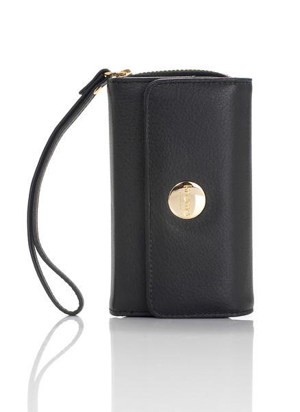 Knomo Leather Purse - iPhone 4S - Black -05