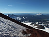 Broken Top and Mt. Bachelor from high on the side of South Sister.
