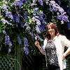 Susan with Mil's Jacaranda at Coal Point.