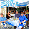 Peter, Susan, Jeff and Gaye enjoy a sumptuous seafood meal at Doyle's at the Beach at Watsons Bay.