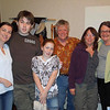 Melanie Crawford, her son Luke, daughter Malia, Pete Gailey, Susan and cousin Maggie Thompson (nee Finlay).
