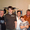 Susan, cousin Peter Finlay, Luke Crawford, Melanie, Malia, Pete Gailey and Maggie.