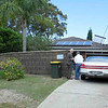 "Jeff and Peter at Mil's home at Coal Point with Peter and Gaye's ""Limo"" the GM Holden Statesman."