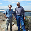 "Peter and Jeff at ""The Gap"" at Watsons Bay overlooking the Pacific Ocean."