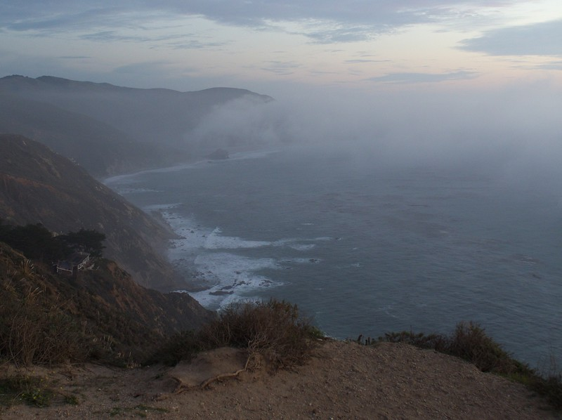 Headed south along the majestic Big Sur coast.