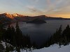Sunrise at Crater Lake.