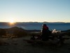 A picnic dinner at 10,000' while watching the sun as it's just about to disappear behind the Sierras and waiting for the full moon to rise over the Nevada desert.