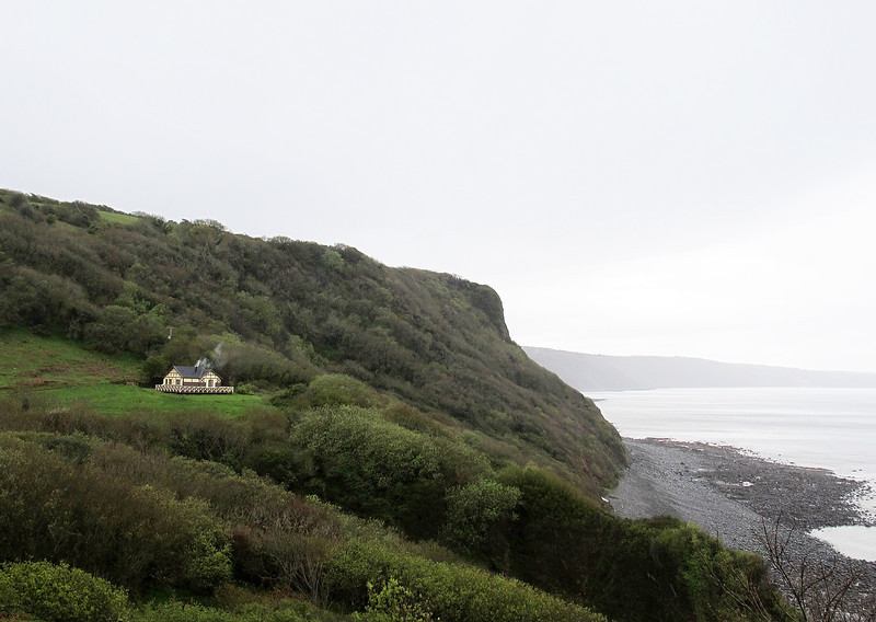 A pretty but remote cottage on the cliff top.