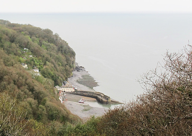 Clovelly Harbour from above.