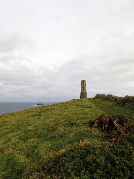Stepper Point Daymark. It is a stone tower, 40 ft high, 240 feet above <br /> sea level, visible from 30 miles away and 177 years old and was part of a series of safeguards to help ships entering the River Camel Estuary avoid the notorious Doom Bar.