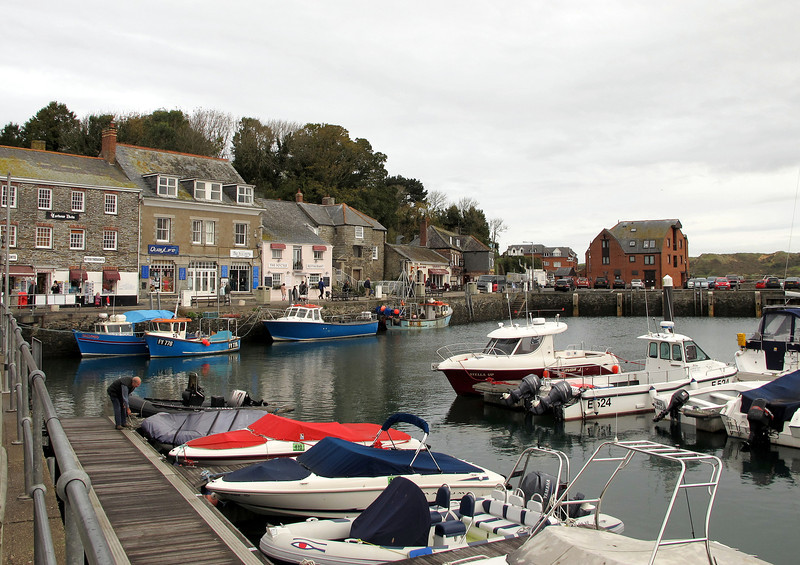 Padstow Harbour.   Quiet now, but on arrival here on completion of the previous leg during the previous May the 'Obbie Oss' festival was in full swing.