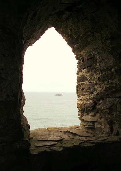 View from the inside of the Daymark at Stepper Point (see the next picture), built to act as an aid to navigation in the Camel Estuary area.