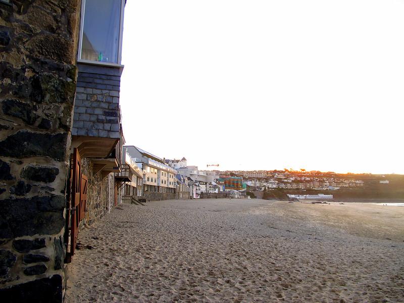 Porthmeor Beach on the Western side of the St Ives peninsula.