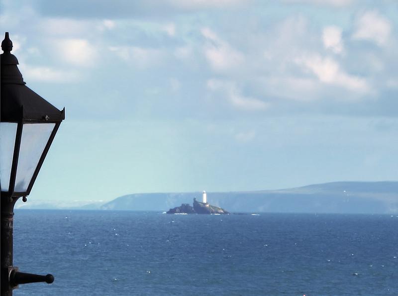 Godrevy Lighthouse from Porthminster Beach, St Ives.