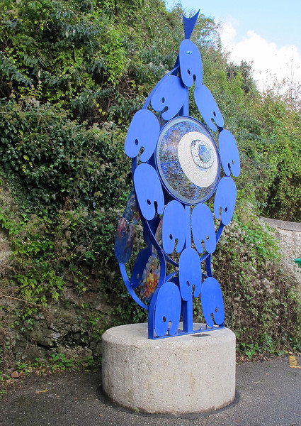 A sculpture at St Ives Railway Station.