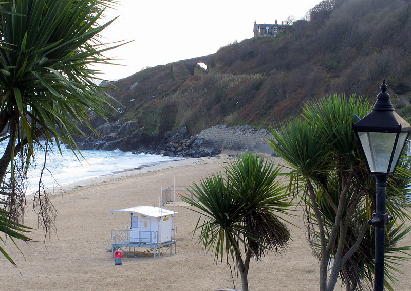 A quiet Porthminster Beach at St Ives.
