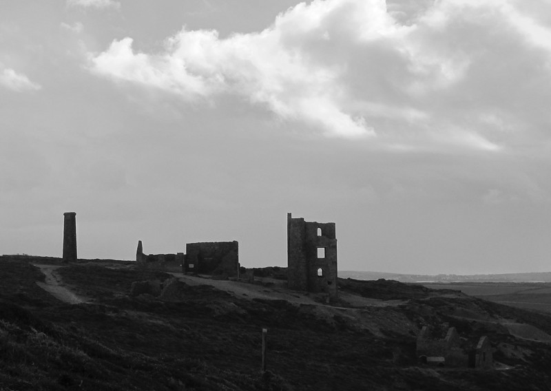 More industrial heritage buildings, this time on the cliff top, made more atmospheric by the bleak weather.